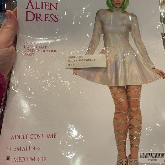New Alien Dress costume Spirit..L 8-10 & headband